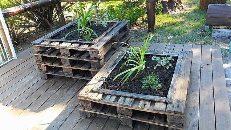Wood Pallets Planters