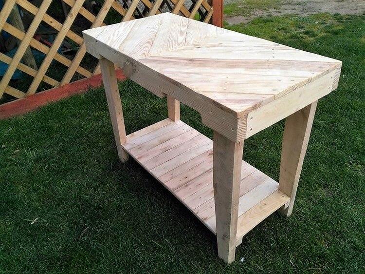 Wood Pallets Table Idea