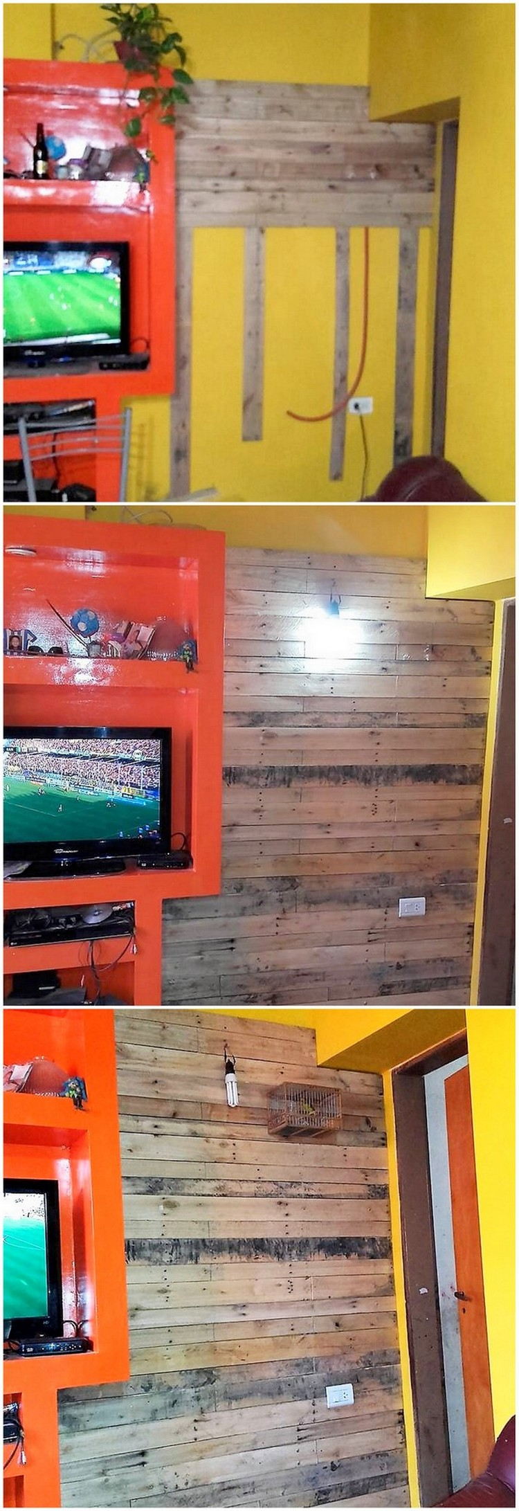 Wood Pallets Wall Paneling
