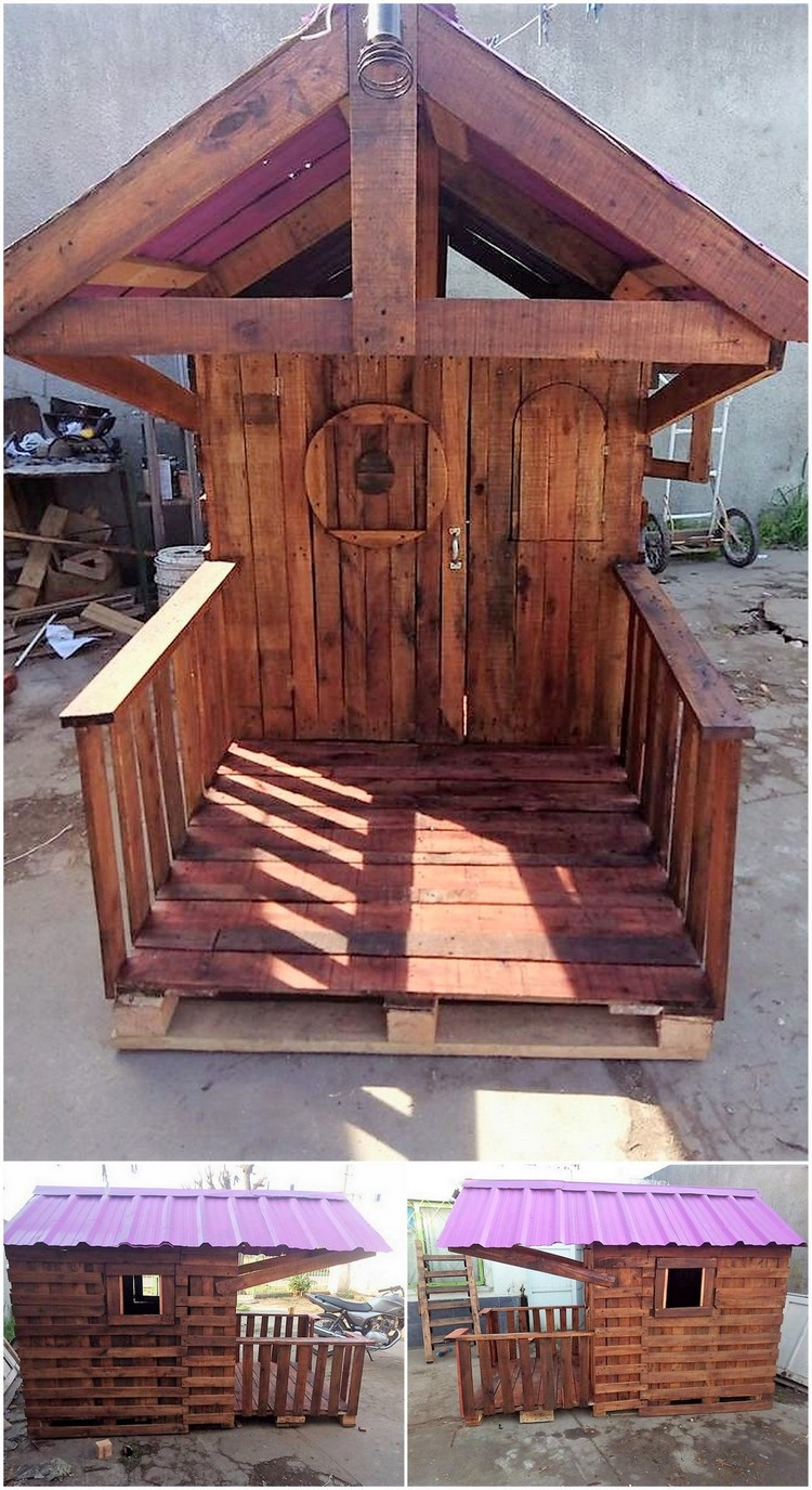 Wooden Pallets Playhouse