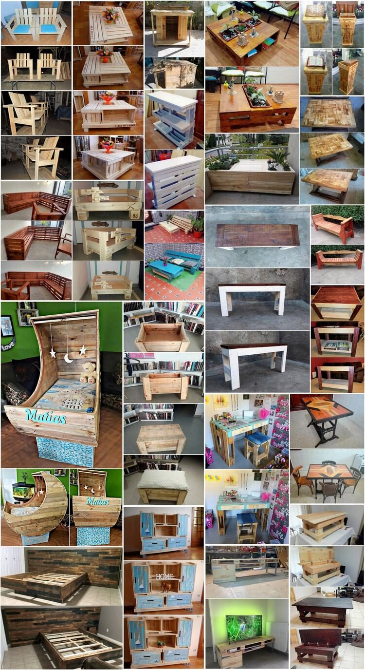 25 Incredible Ideas for Wood Pallets Reusing
