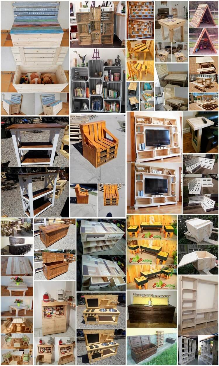 Amazing Ideas to Convert Old Wood Pallets into Something Useful