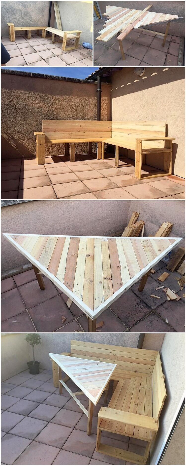DIY Pallet Corner Couch and Table