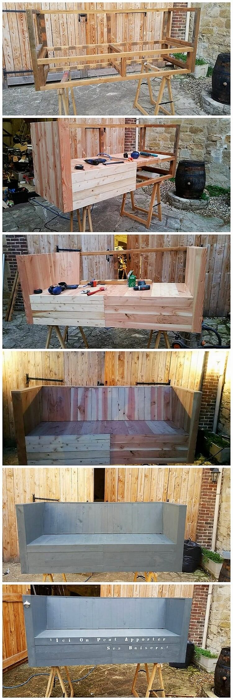 DIY Pallet Couch
