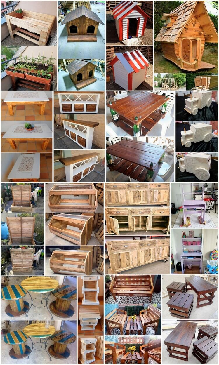 Incredible DIY Ideas Using Old Shipping Wood Pallets