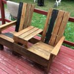 Pallet Adirondack Chairs with Center Table
