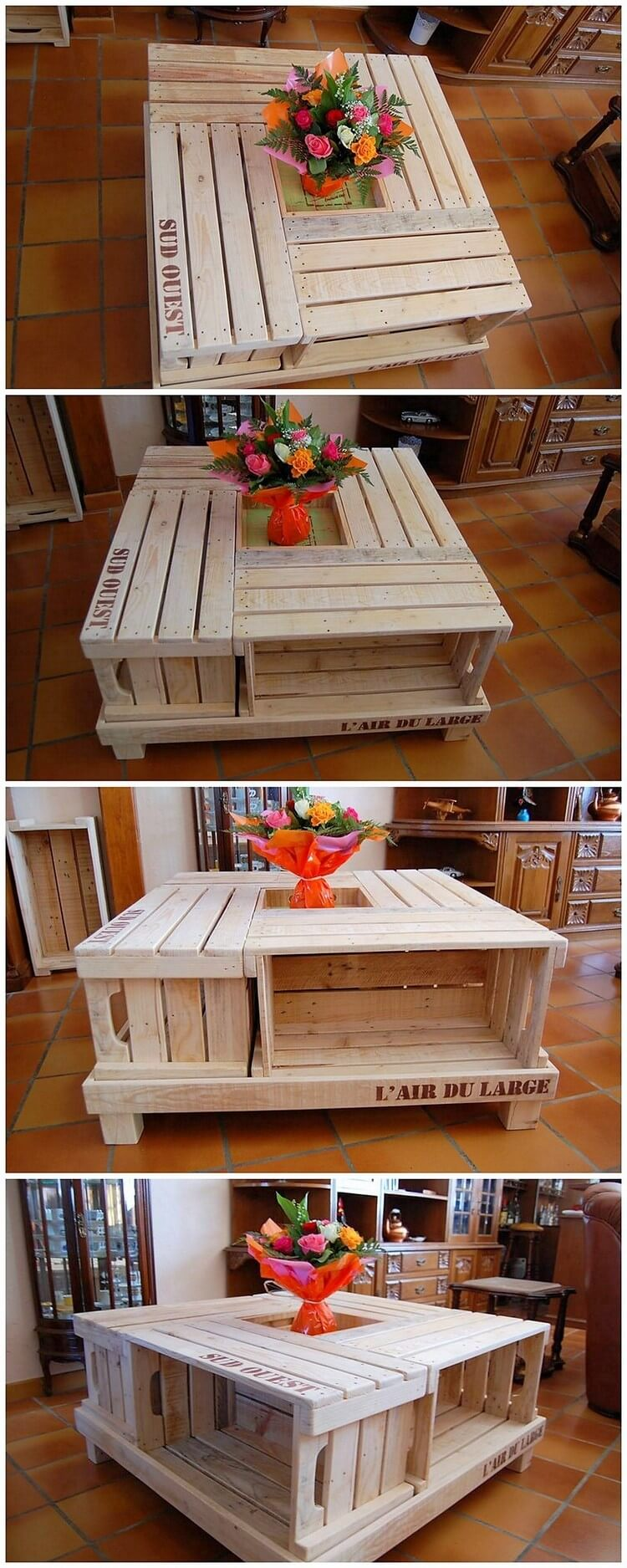 Pallet Coffee Table with Planter