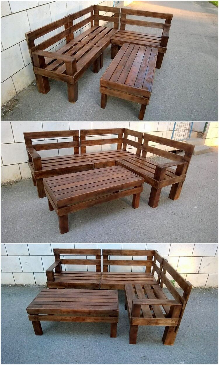Pallet Corner Couch and Table