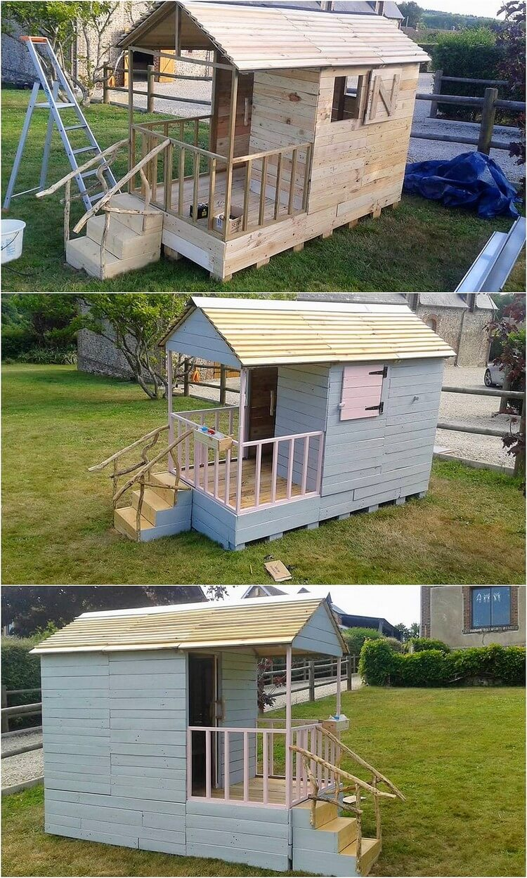 Pallet Garden Playhouse