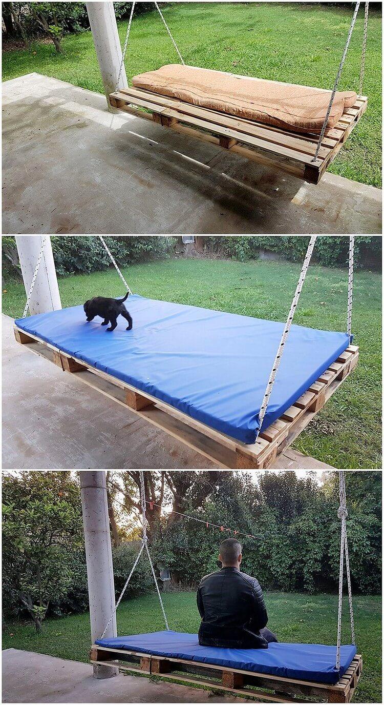 Pallet Garden Swing