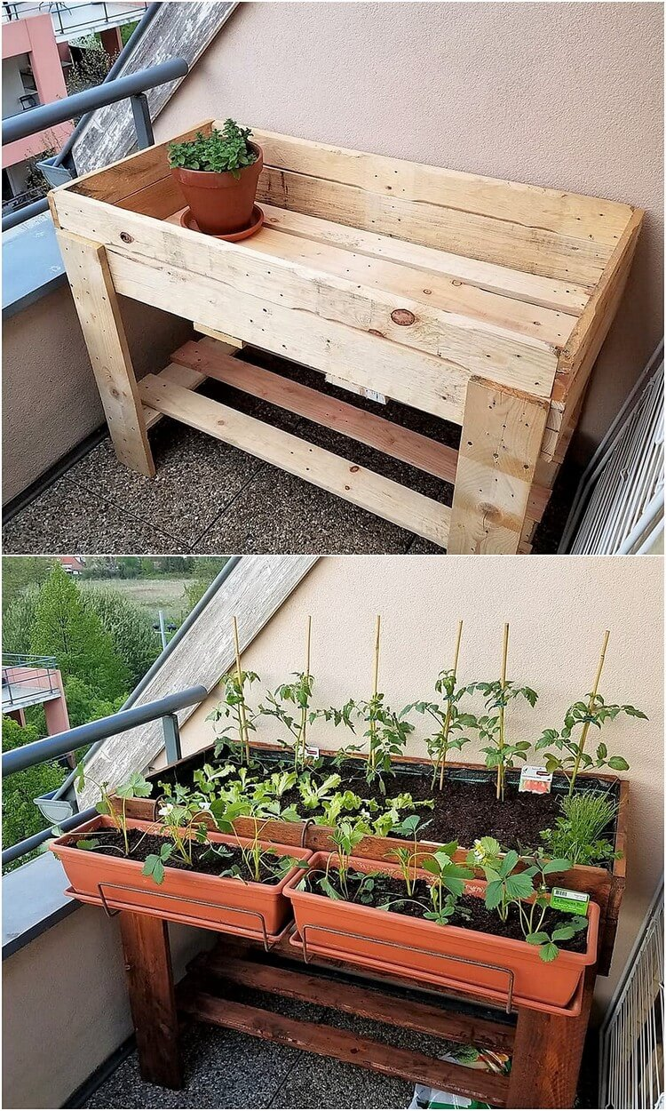 Pallet Herb Garden or Raised Garden