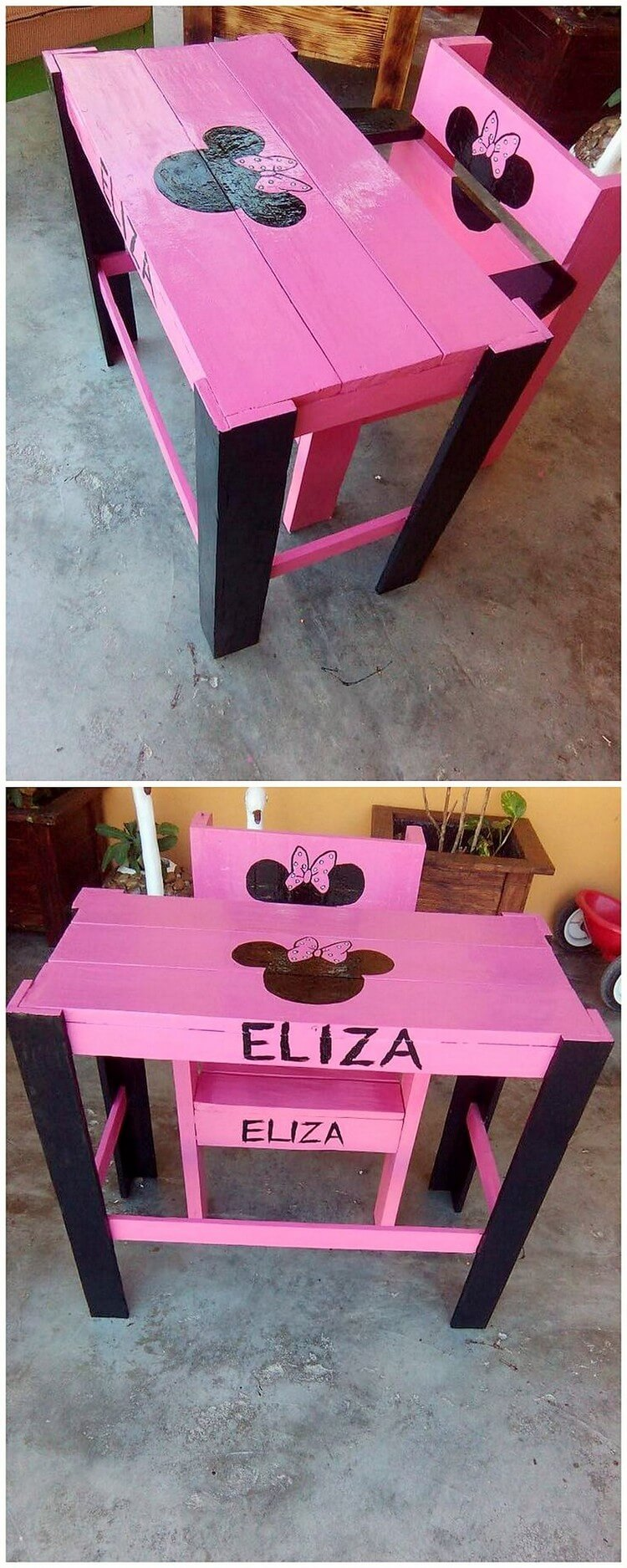 Pallet Kids Table and Chair
