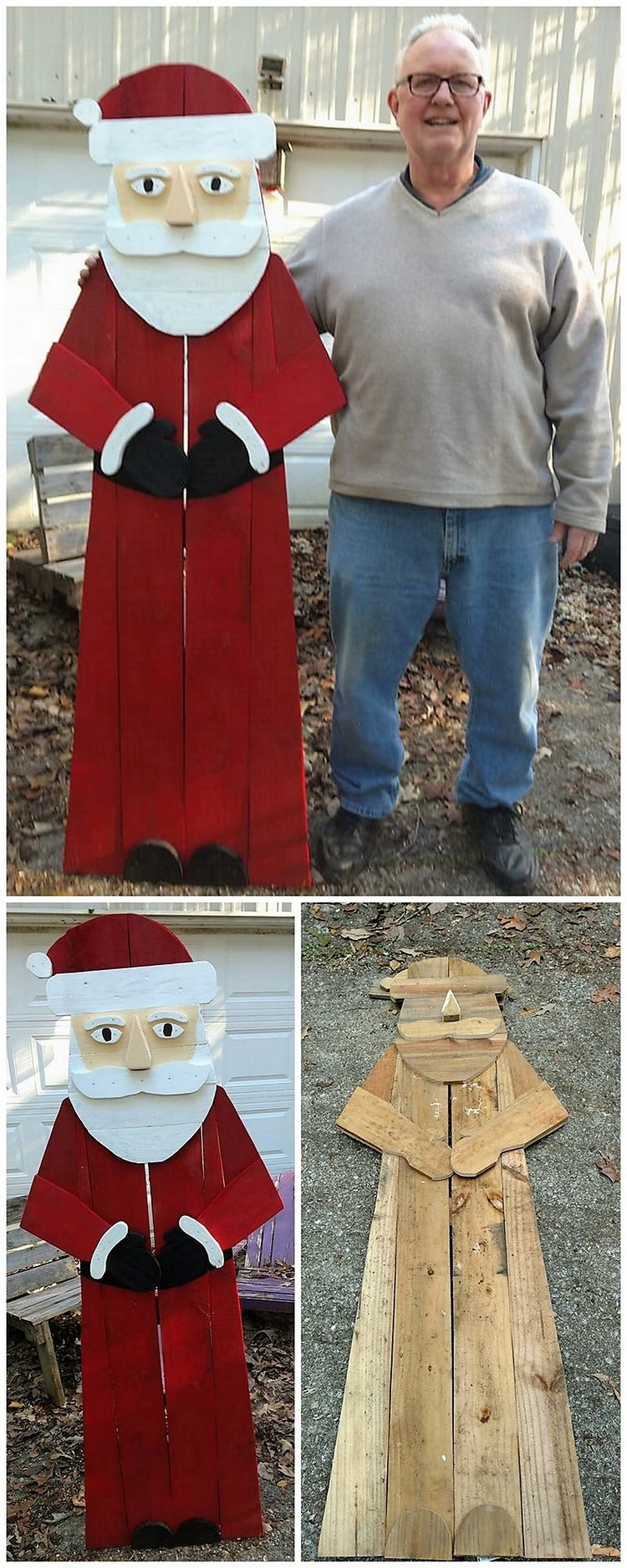 Pallet Santa Claus