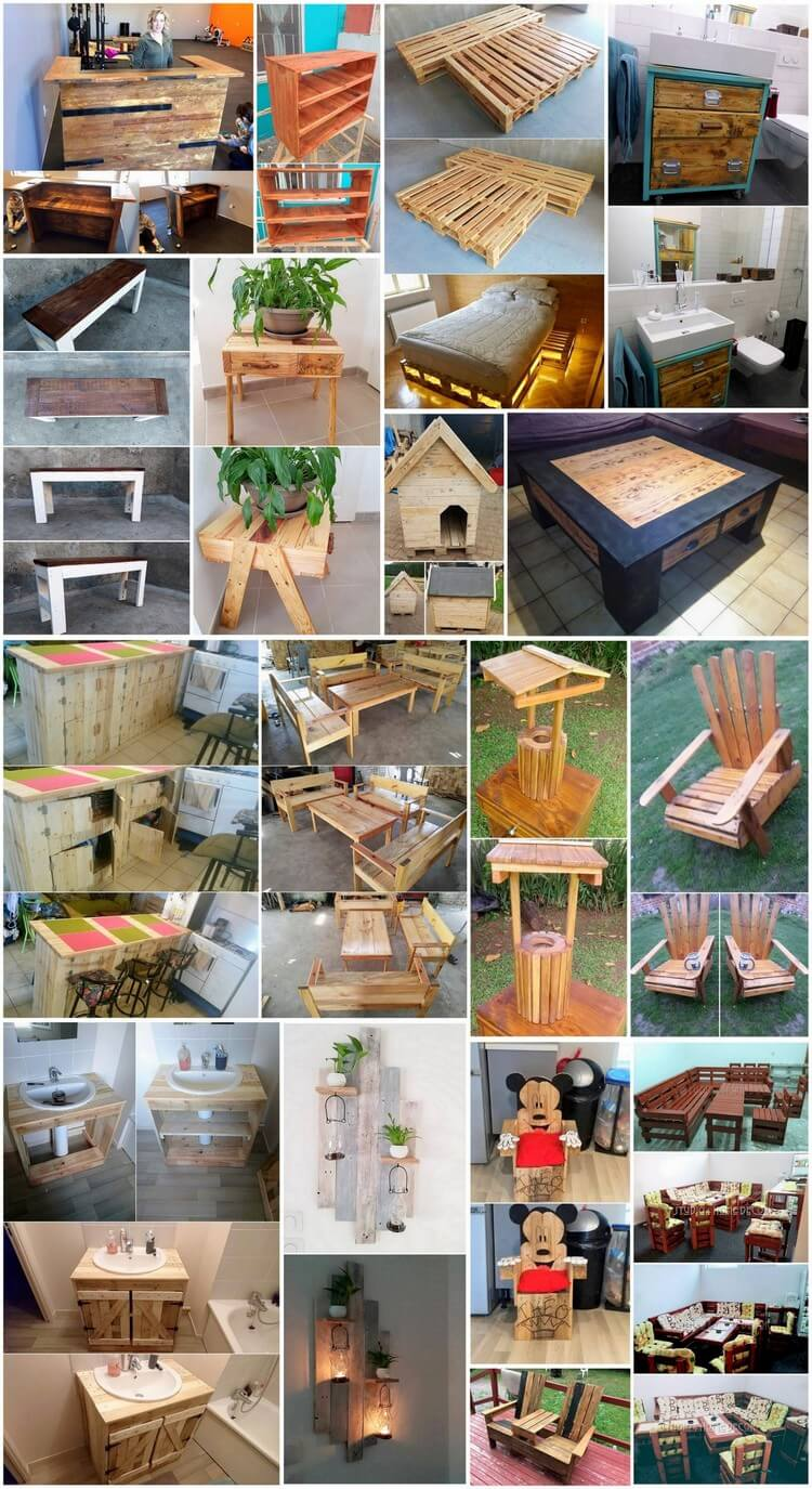 Unlimited Ideas with Old Shipping Wood Pallets