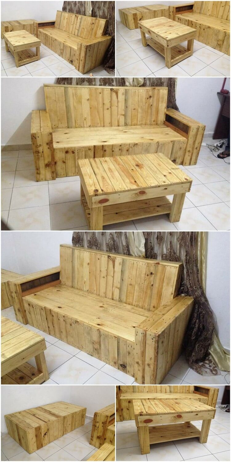 Awesome Wood Pallets Patio Lounge Furniture Plan