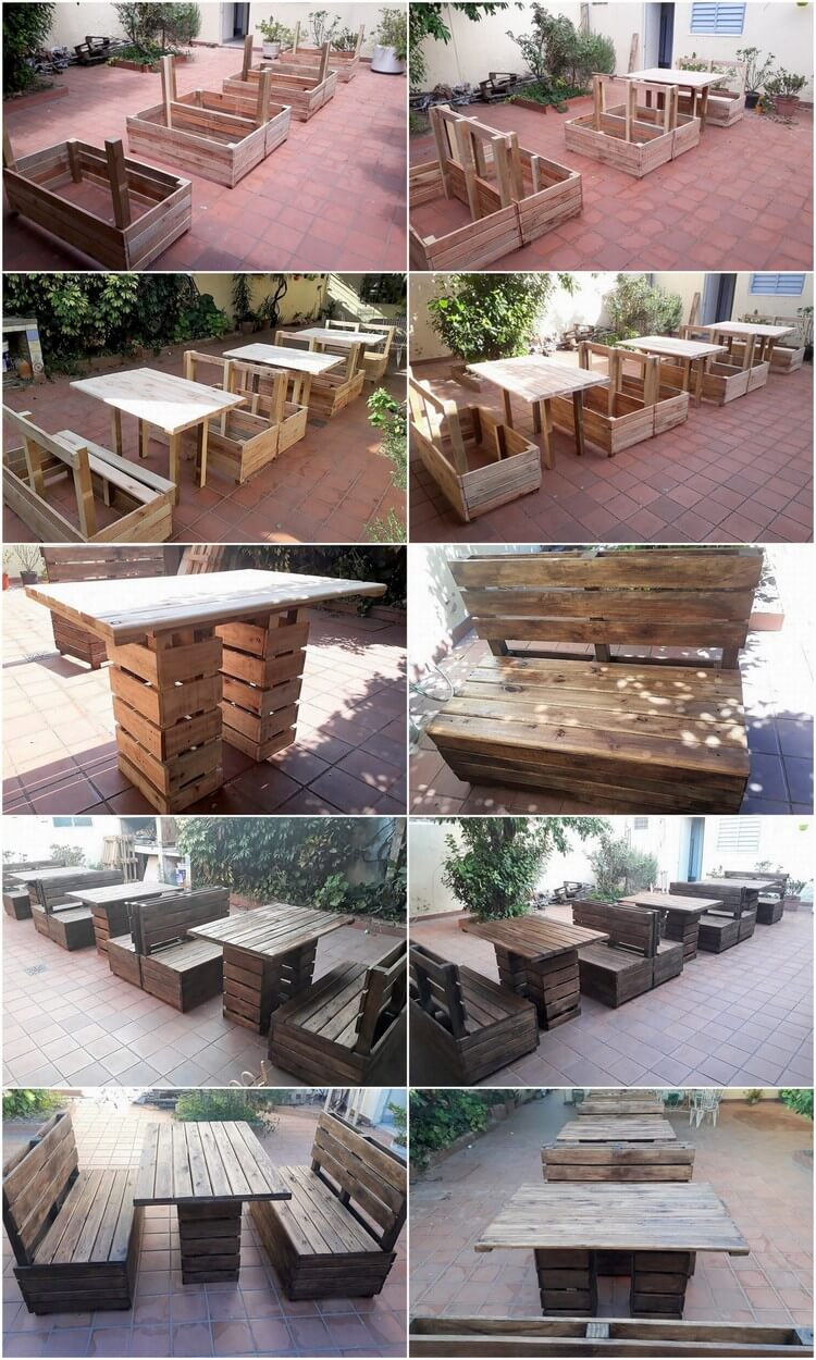 Diy garden furniture made out of old wood pallets pallet Chairs made out of wooden pallets