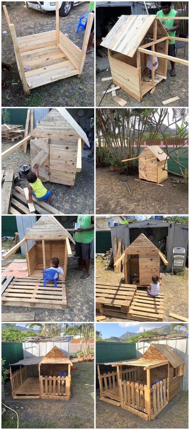 diy pallet garden playhouse pallet wood projects
