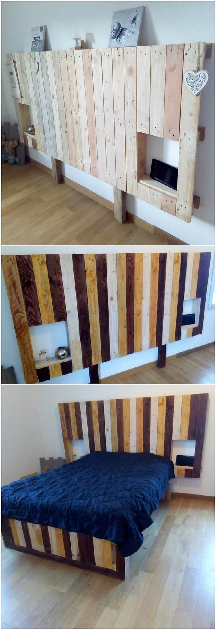 Pallet Bed with Headboard