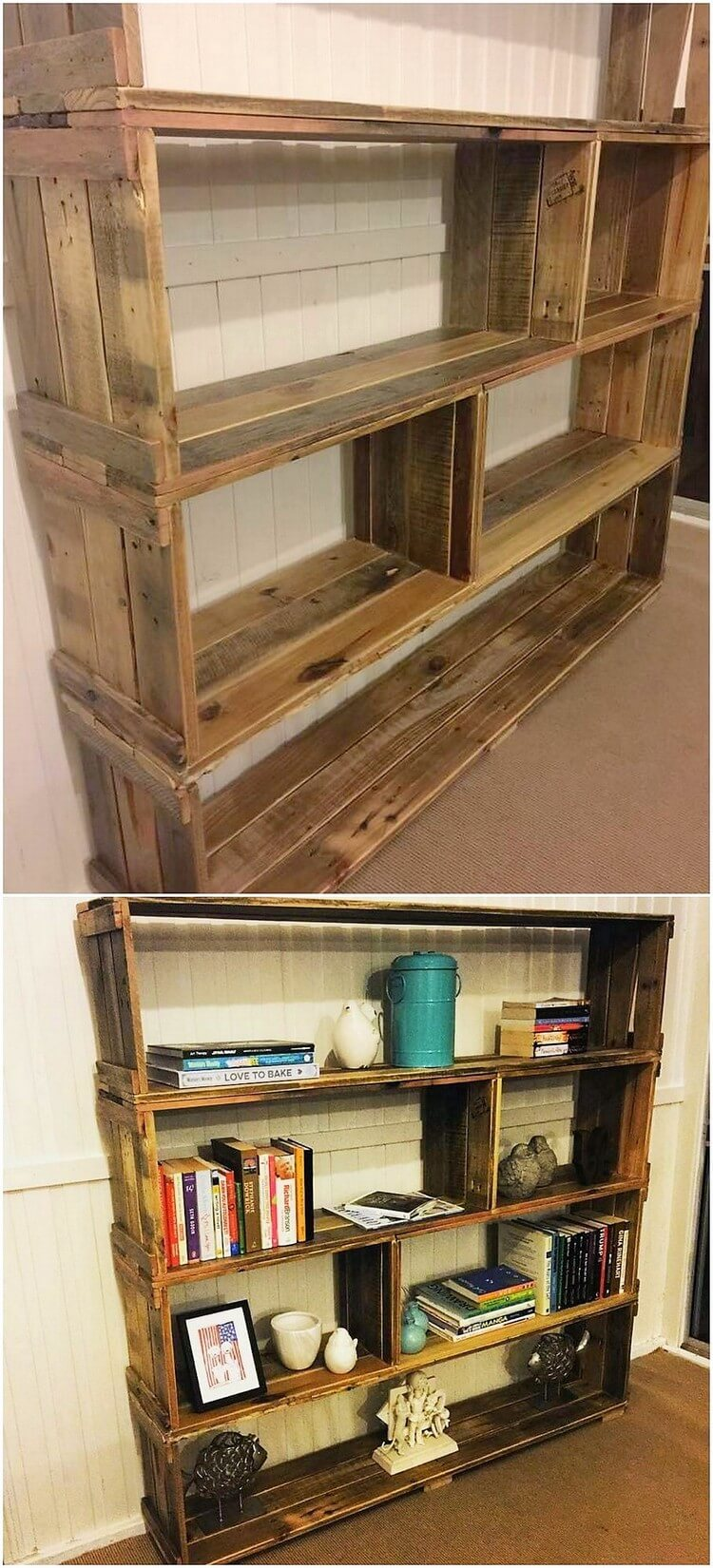 Pallet Books Shelving Unit