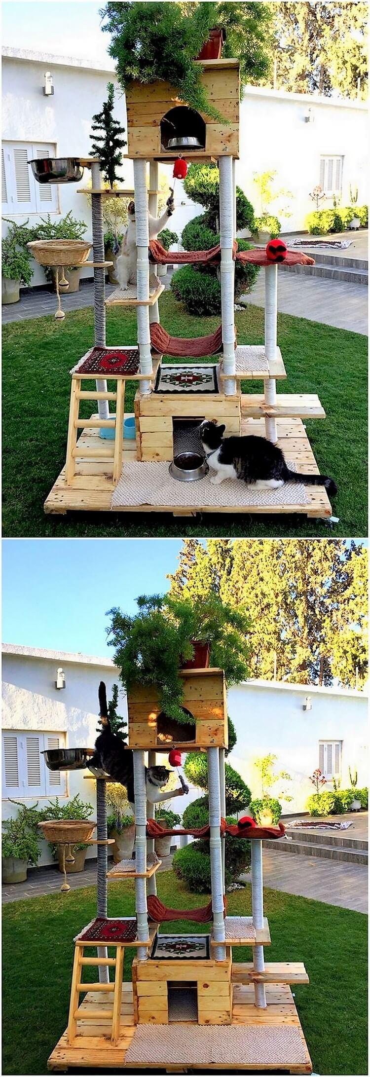 Pallet Cat House