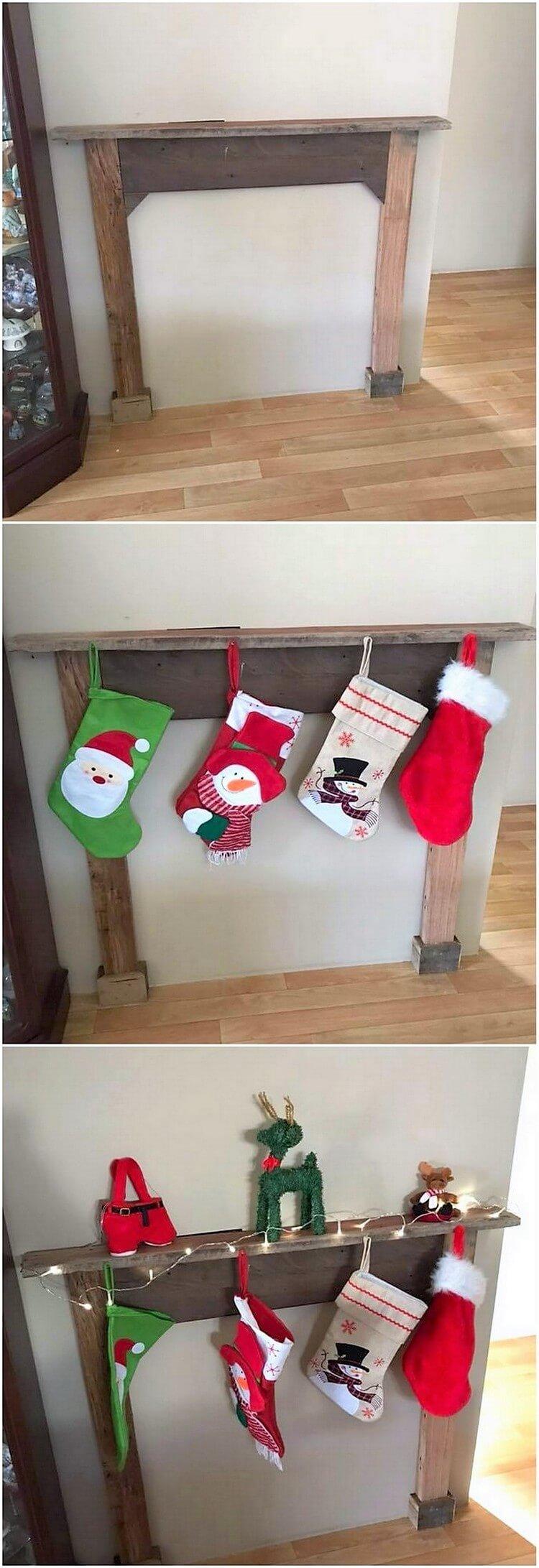 Pallet Christmas Decor Idea