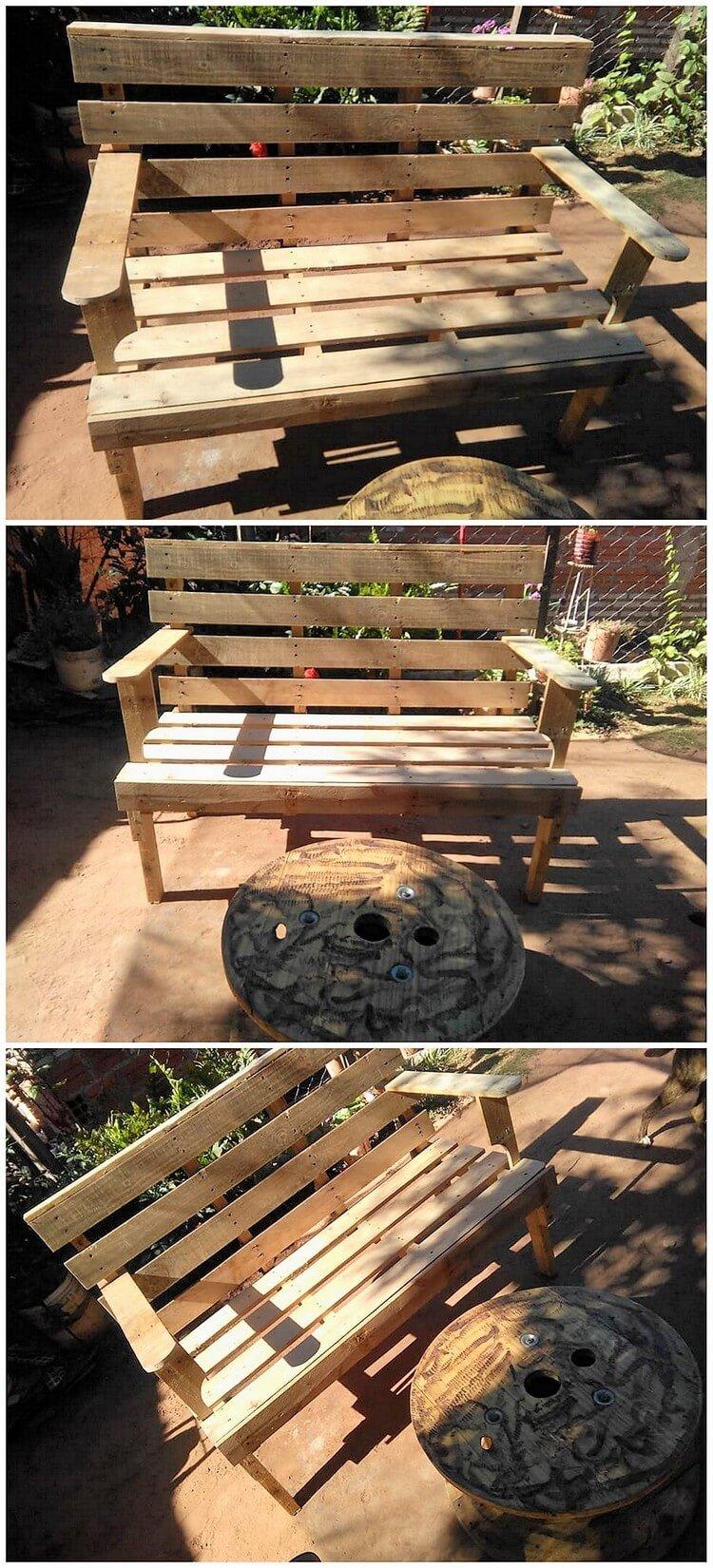 Pallet Outdoor Bench