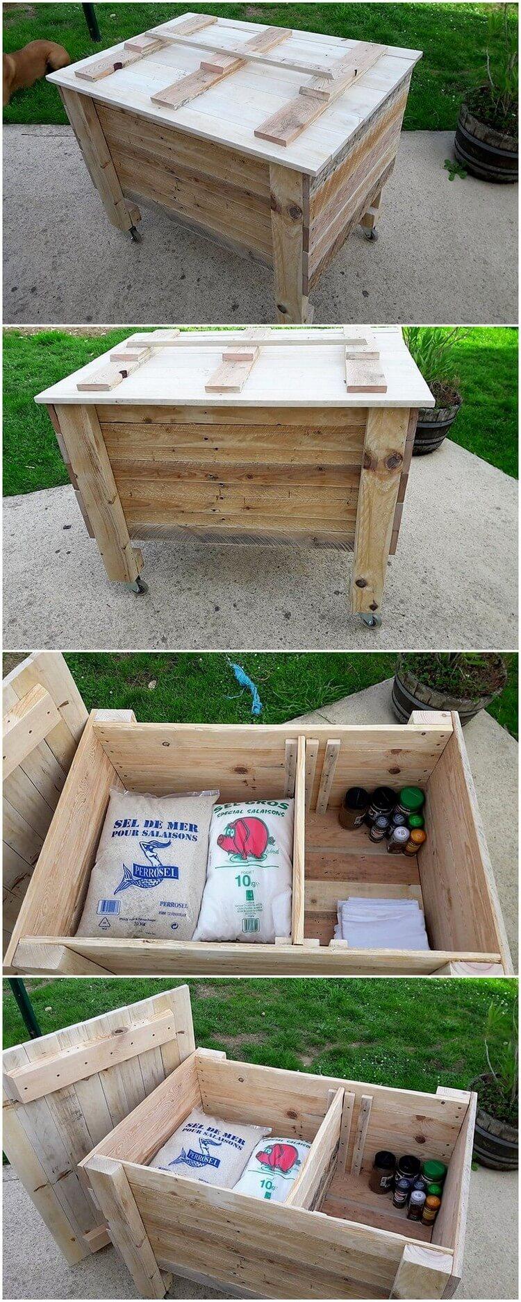 Pallet Rolling Storage Box