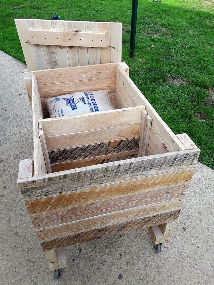 Pallet Storage Box Idea