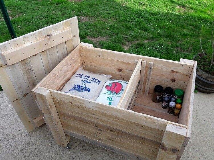 Pallet Storage Box on Wheels