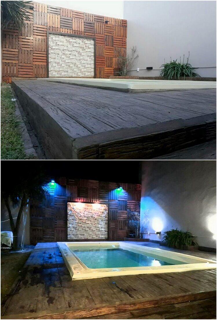 Pallet Swimming Pool Creation