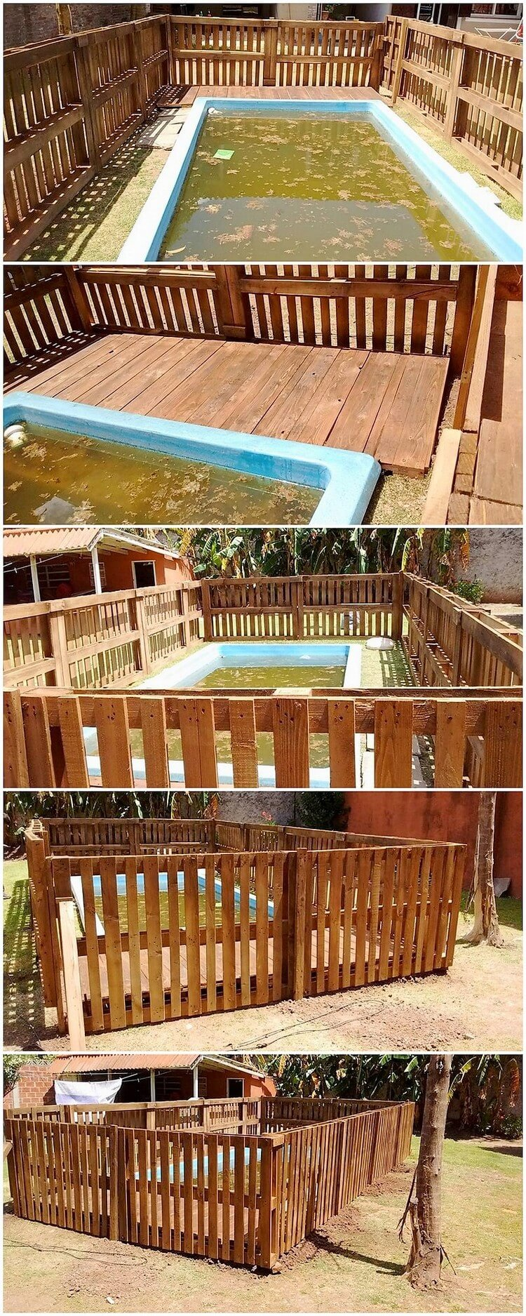 Pallet Swimming Pool Fence