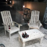 Recycled Pallet Chairs and Table
