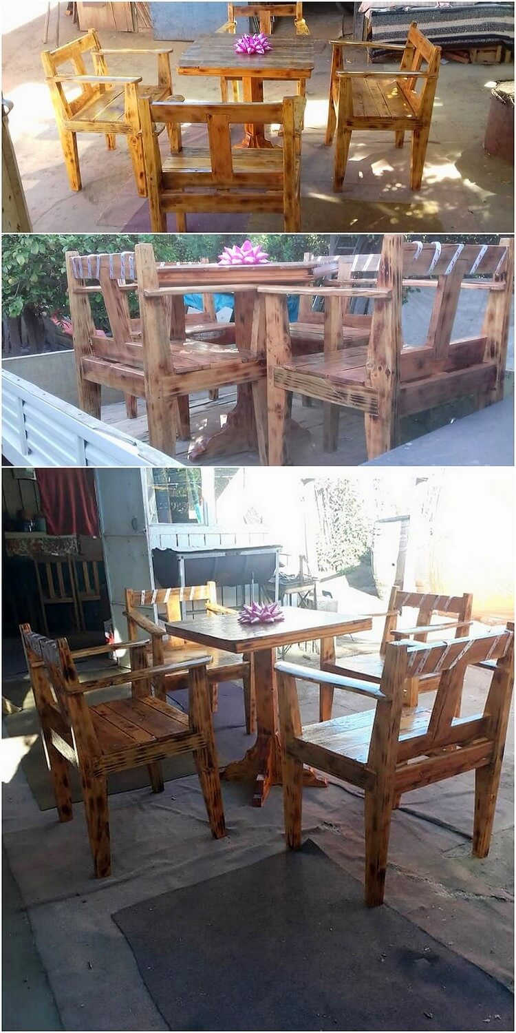 Recycled Pallet Furniture Set