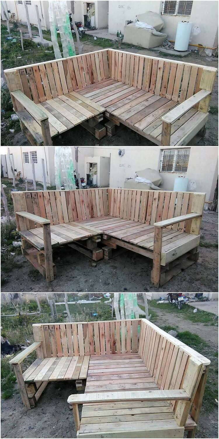 Recycled Pallet Garden Couch