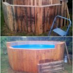 Recycled Pallet Swimming Pool