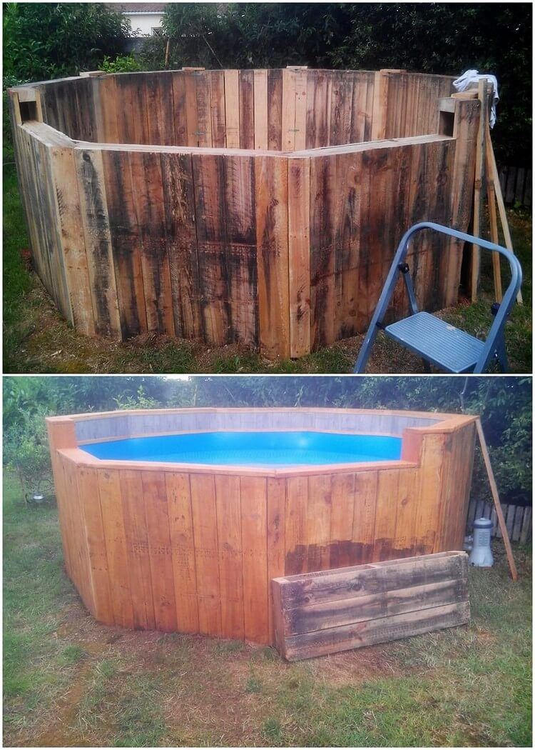 Imaginative shipping wood pallet projects that will inspire you pallet wood projects for Make a swimming pool out of pallets
