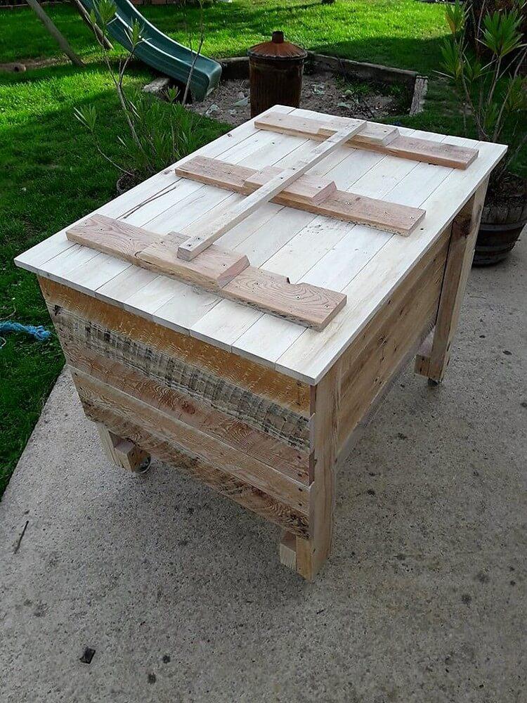 Wood Pallet Storage Box Idea