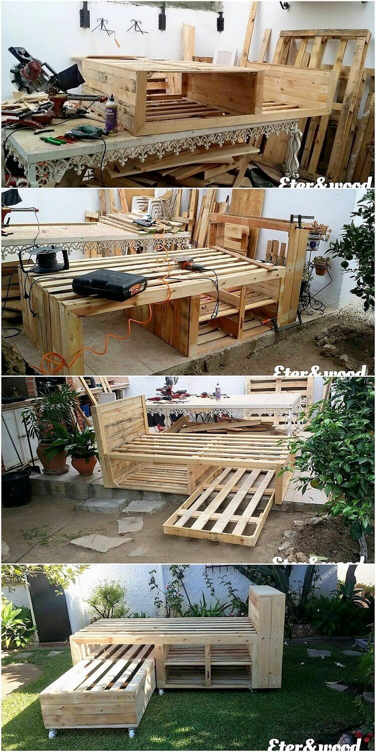DIY Pallet Double Bunk Bed