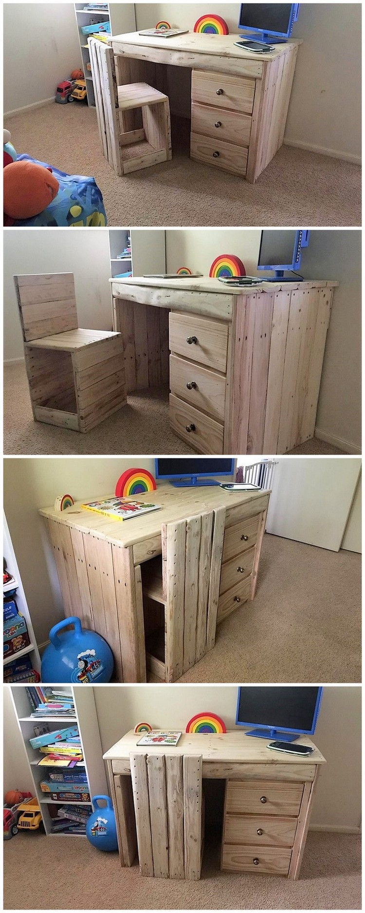 Pallet Computer Table for Kids