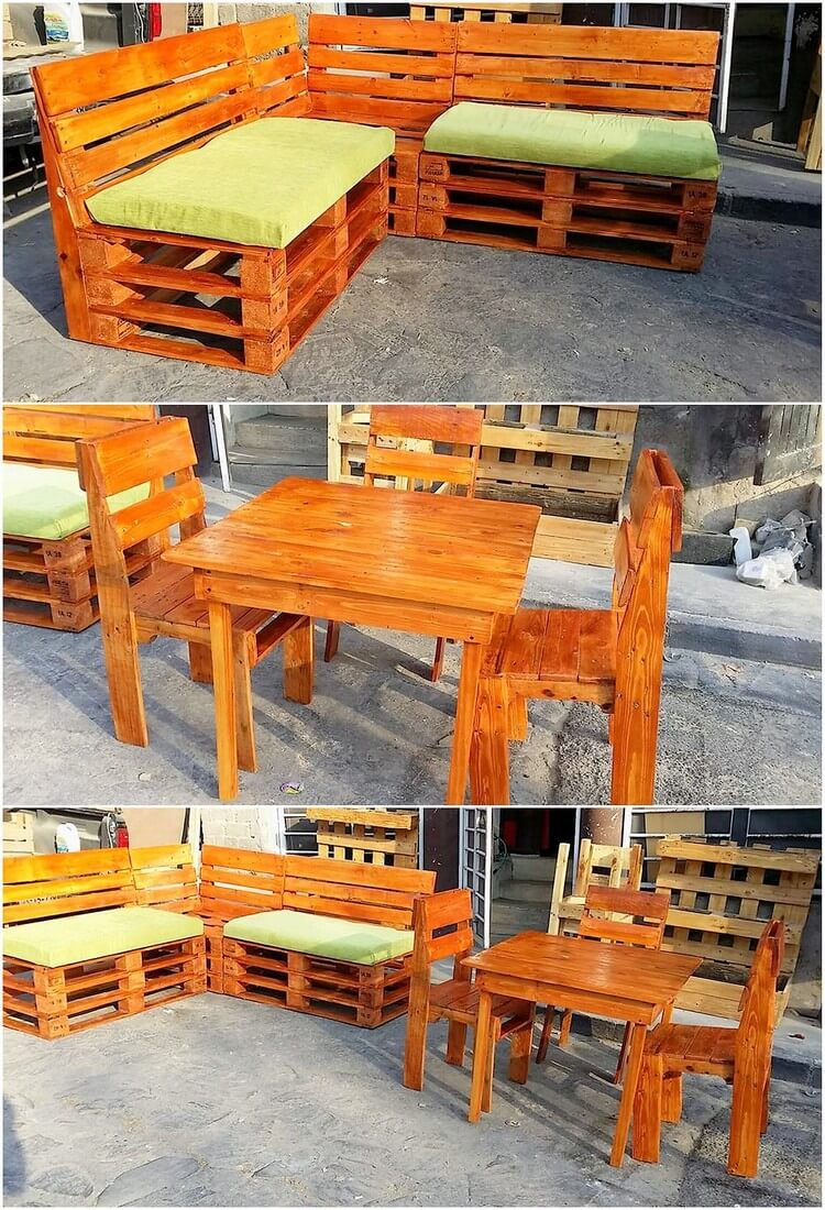 Genius projects to try with old pallets pallet wood projects for Pallet corner bench