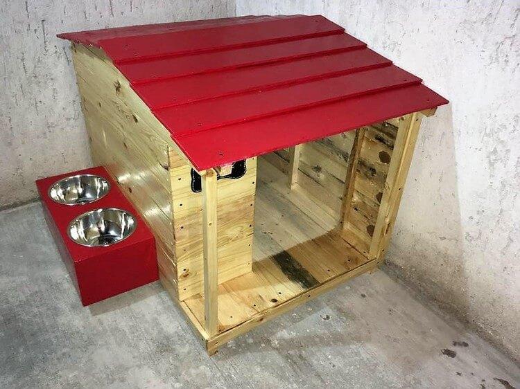 Pallet Pet House Plan