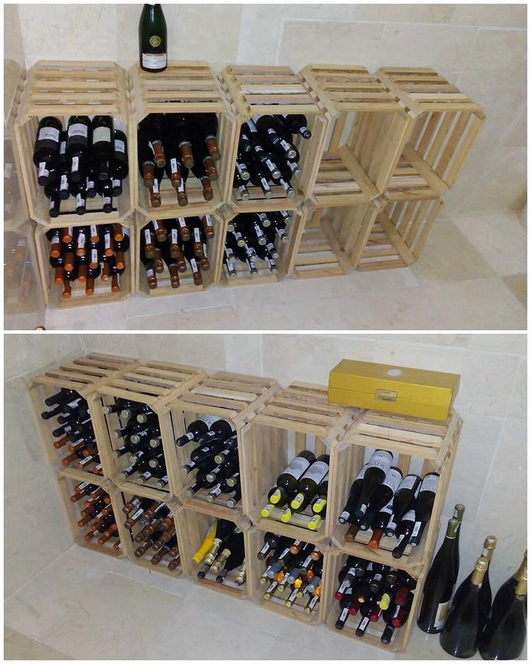 Pallet Shelving Wine Rack