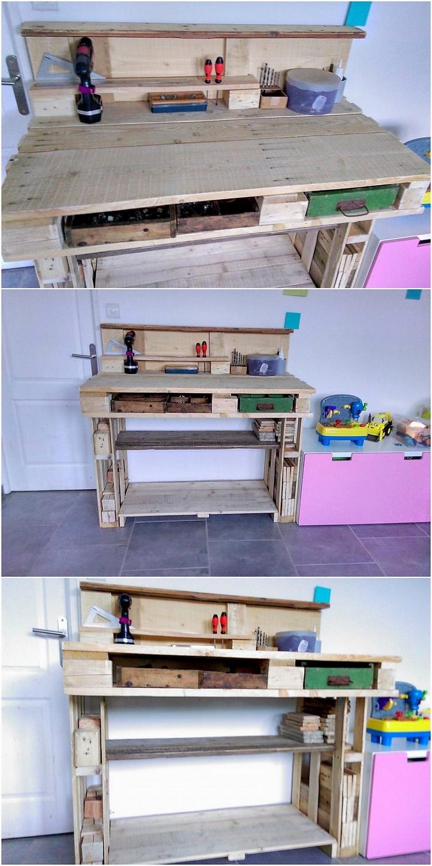Pallet Tool Rack Table