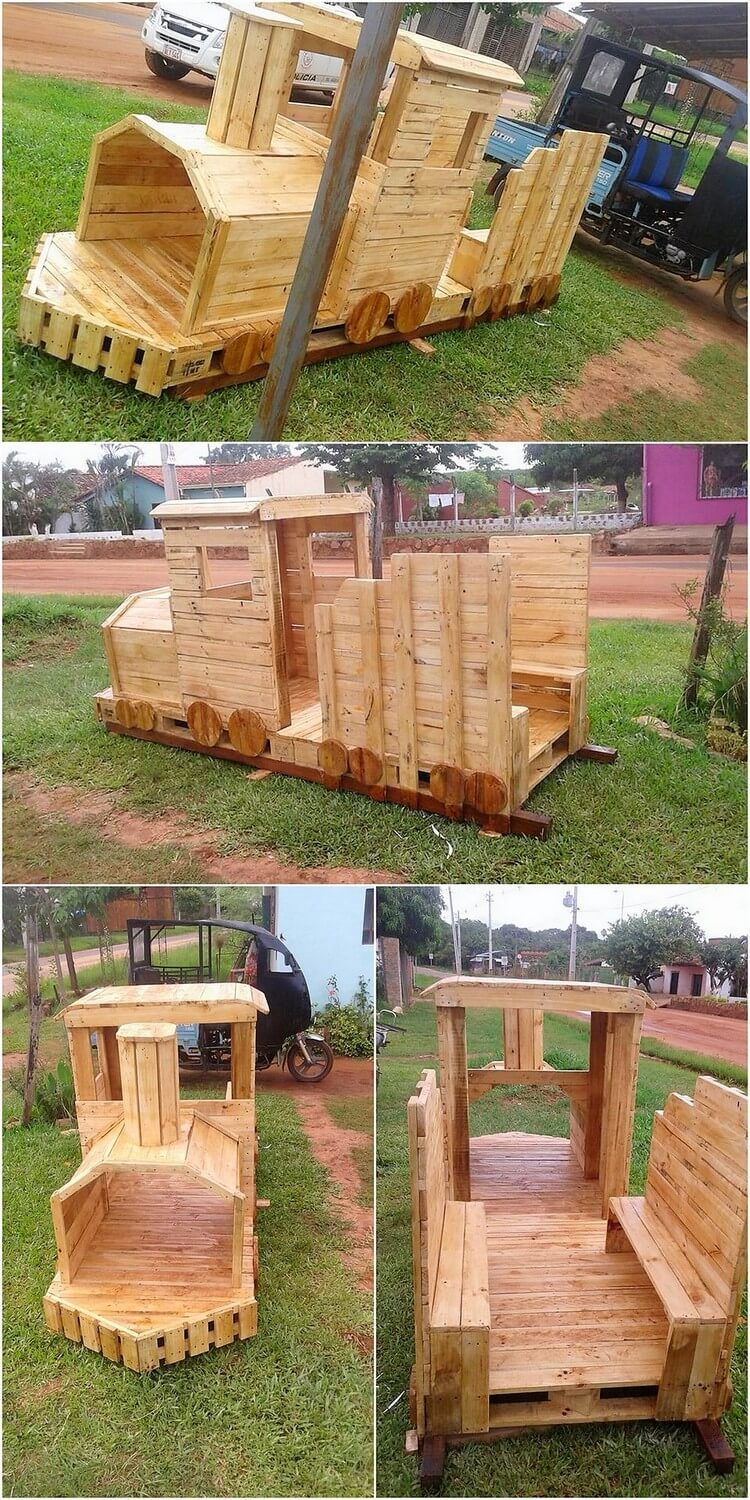 Pallet Train Creation for Kids