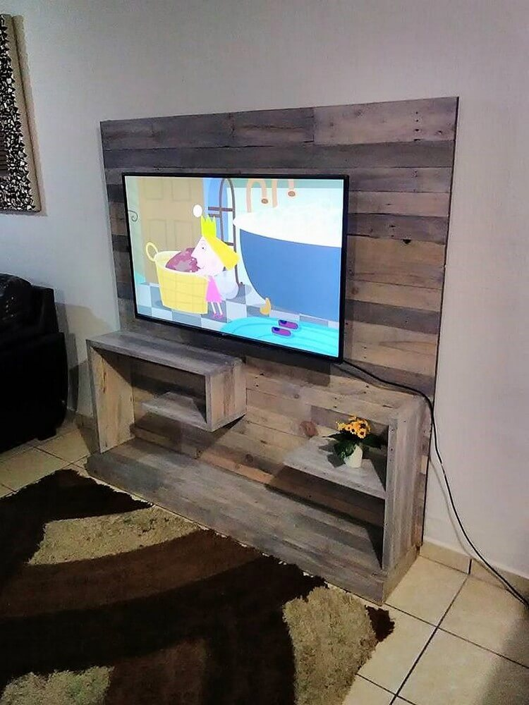 Awesome Wood Pallets Tv Stand Idea Pallet Wood Projects