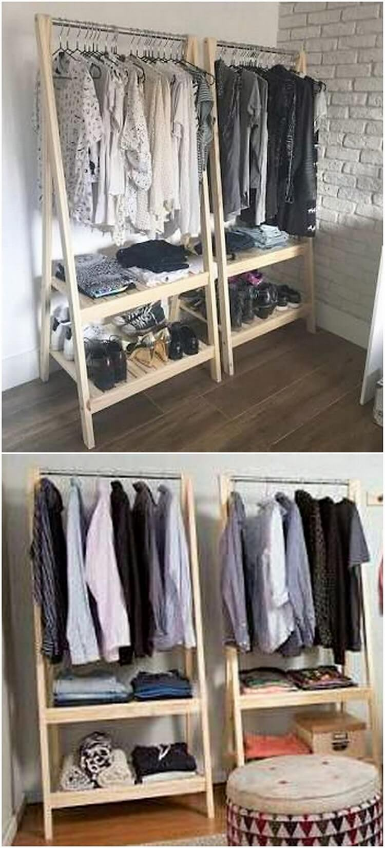 Recycled Pallet Closet