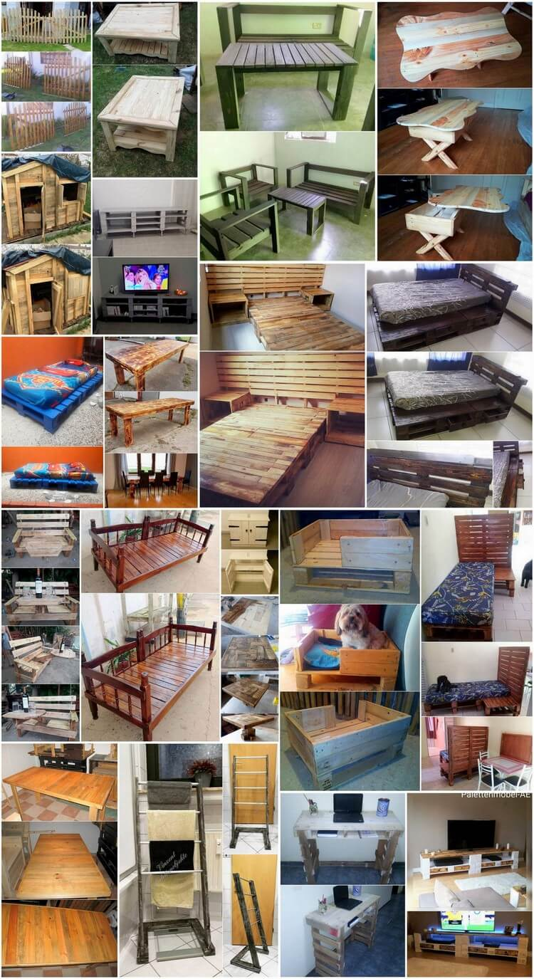 Stunning and Inspired Wood Pallets Reusing Ideas