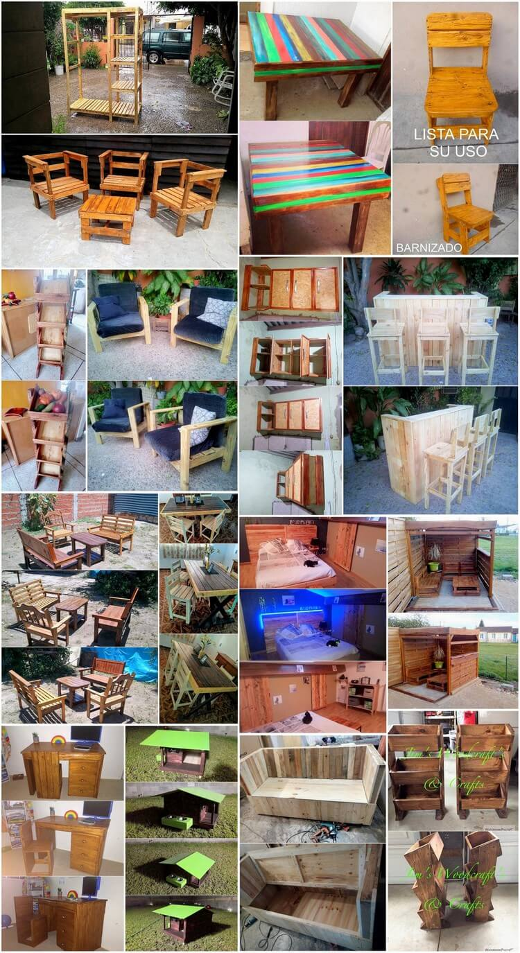 Graceful Wood Pallet Recreation Projects
