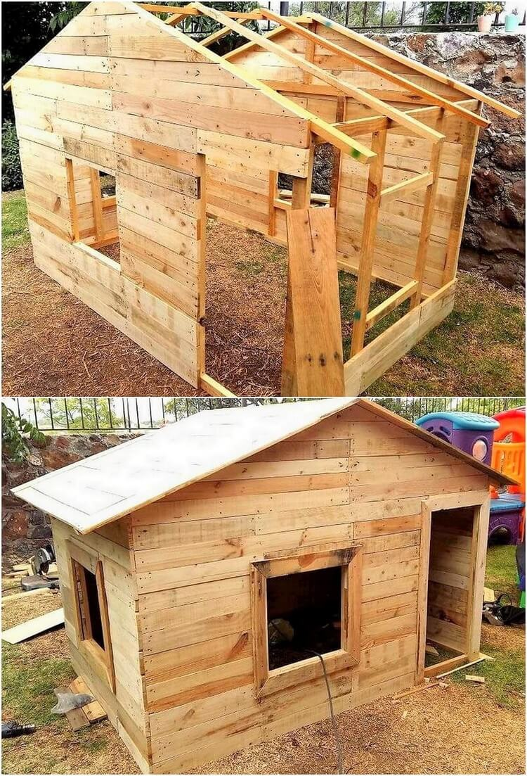 Pallet Garden House or Shed