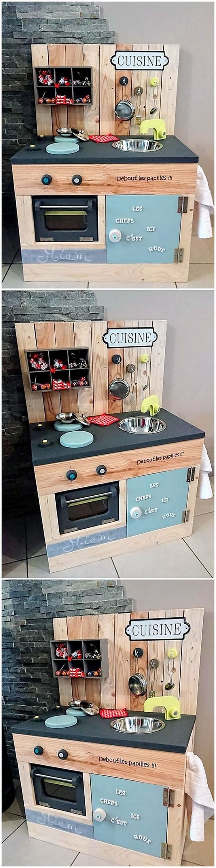 Pallet Kitchen Creation for Kids